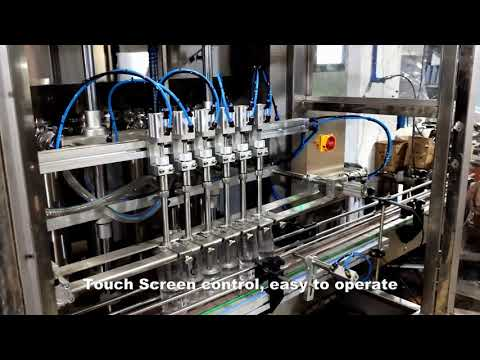 automatische 6-Kopf-Abgabe Waschmittel Chlor Flüssigkeit Füllfüllmaschine Linie