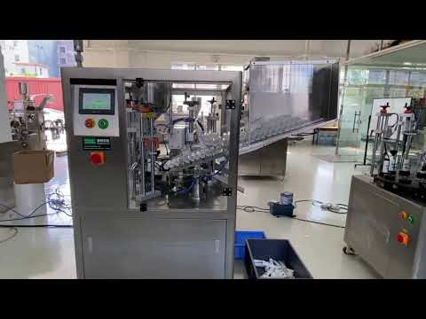 automatische Versiegelungsmaschine zum Füllen von Kunststoffrohren für Handcreme-Zahnpasta