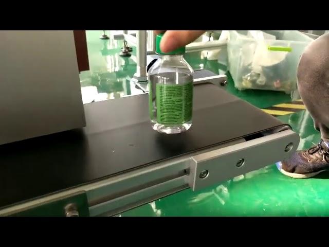 Desktop-Aufkleber-Etikettiermaschine für Plastikwasserflaschen