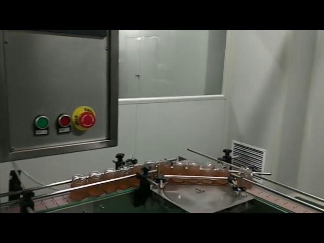 automatische Fruchtmarmelade Flasche Glas Nudelsauce Waschen Füllung Verschließen Etikettiermaschine