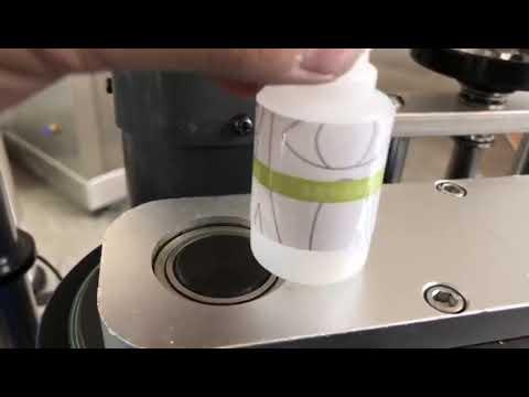 kleine automatische Desktop-Etikettiermaschine für runde Flaschenaufkleber