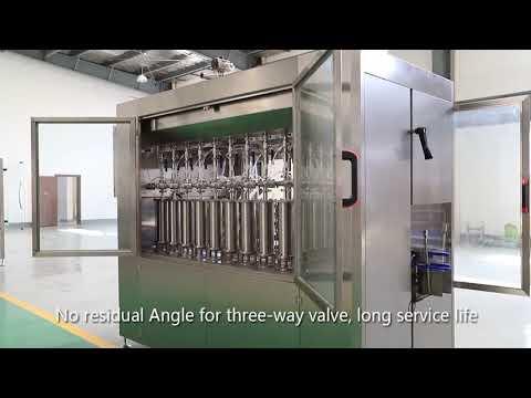 automatische Kolben Haustier Glasflasche Öl flüssige Füllkappe Etikettiermaschine Linie