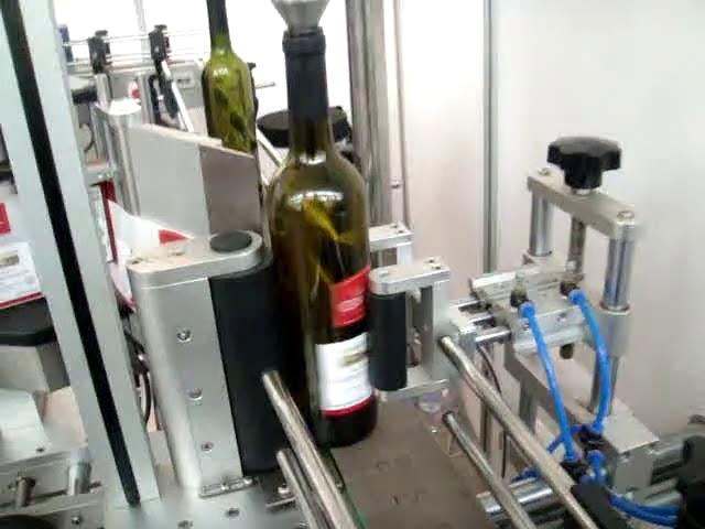 Automatische Etikettiermaschine für Doppelseiten- und Rundflaschen mit hoher Geschwindigkeit